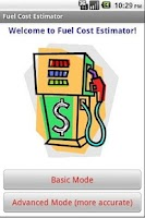 Screenshot of Fuel Cost Estimator