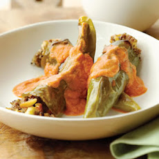 Green Chiles Stuffed with Almonds and Raisins