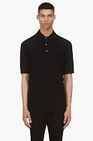 11 By Boris Bidjan Saberi Black Cotton Polo