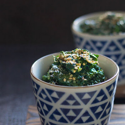 Kale With Sesame Sauce
