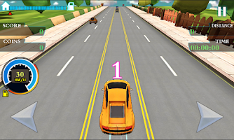 Screenshot of rush rancing 2:the best racer