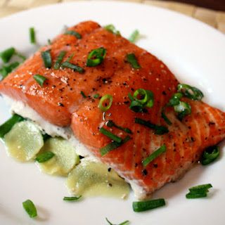Salmon With Ginger And Scallions Recipes
