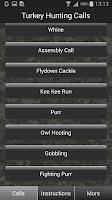 Screenshot of Turkey Hunting Calls