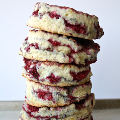 Raspberry Lemon Sour Cream Scones