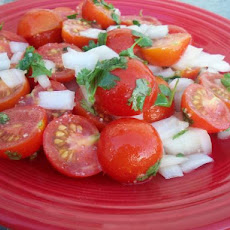 Tomato Salad with Ginger-Garlic Dressing