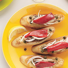 Piquillo Pepper and Sardine Tartines
