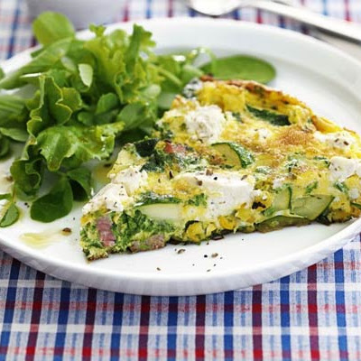 Quick Veg & Soft Cheese Frittata
