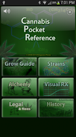 Screenshot of Cannabis Pocket Reference