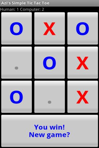 Azi's Simple Tic Tac Toe