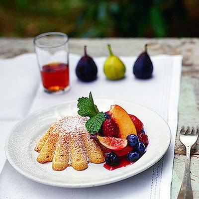 Almond Cakes with Fresh Fruit