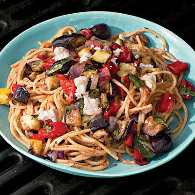 Spaghetti with Grilled Ratatouille