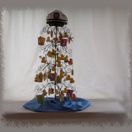 Summer Wrought Iron Tree by Patti (George) Larcher - Artistic Objects Toys ( toys, summer, seasonal decorations - summer, artistic objects, wrought-iron tree )