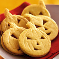 Orange Pumpkin Face Cookies