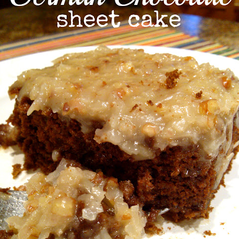 German Chocolate Sheet Cake