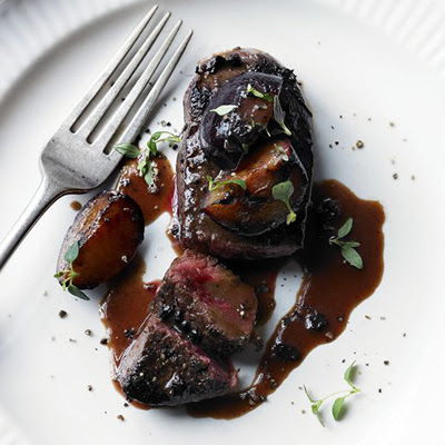 Pan-fried Venison With Sloe Gin & Plum Sauce