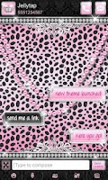 Screenshot of Luxury Theme Pink Cheetah SMS★