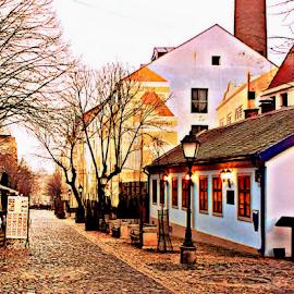 old street Skadarlija by Verica Pavlovic - City,  Street & Park  Historic Districts