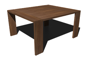 3D Image of a Modern Bespoke Dining Table