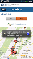 Screenshot of DCCU Mobile Banking