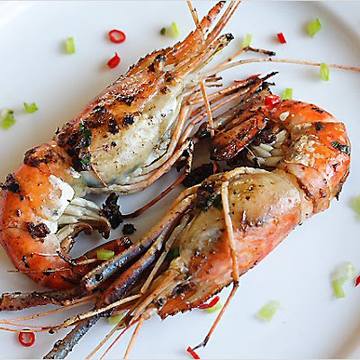 Pan-fried Prawns (Fresh Water Prawns)/干烧虾