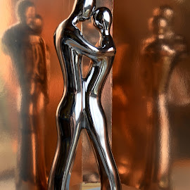 Dancing  by Rumiana Doncheva - Artistic Objects Still Life ( love, figure, reflections, couple, dace )