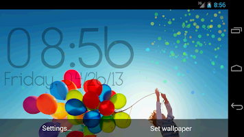 Screenshot of Galaxy S4/S5 Digital Clock LWP