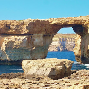 AZURE WINDOW by Wojtylak Maria - Nature Up Close Rock & Stone ( nature, malta, sea, rocks, island )