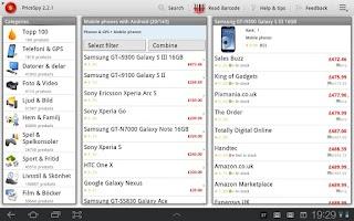 Screenshot of Prisjakt / PriceSpy 1.1-3.2