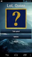 Screenshot of League Of Legends Quizz