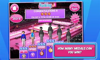 Screenshot of Gymnastics Events