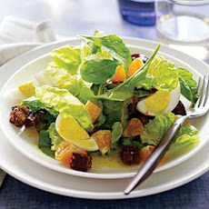 Red Butterhead Lettuce and Arugula Salad with Tangerines and Hard-Cooked Eggs
