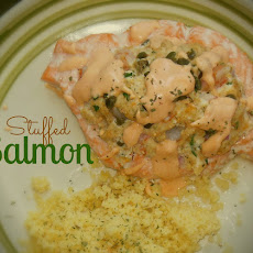 Mouthwatering Crab & Shrimp Stuffed Salmon