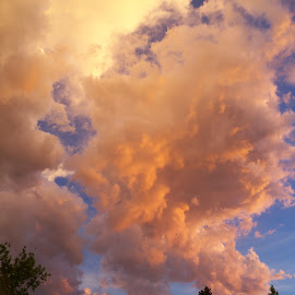 The Giant in the Clouds by Sean M. Chase - Landscapes Cloud Formations ( cloud formations, clouds, englewood, nature, sunset, skylines )