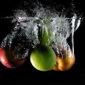 Making A Splash by Randell Whitworth - Food & Drink Fruits & Vegetables ( water, fruit, flask, 5100, nikon )