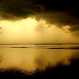 Storm by Arunava Sengupta - Landscapes Cloud Formations ( cloudy, sea, sunrise, beach, storm,  )