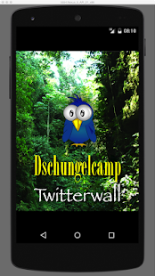 Dschungelcamp Twitterwall - screenshot