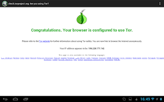 Screenshot of Orweb: Private Web Browser