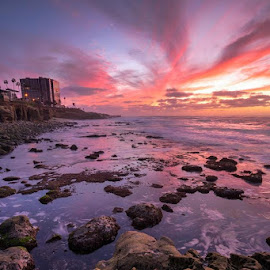La Jolla Cove Beach by Joseph Land - Landscapes Beaches