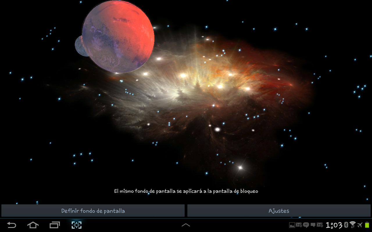 3D Galaxy Live Wallpaper Full Screenshot 13