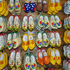 Shoes, shoes, shoes by Luanne Bullard Everden - Artistic Objects Clothing & Accessories ( shoes, michigan, clogs, wooden, holland, tulips, windmills )