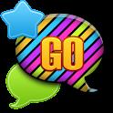 GO SMS - Neon Rainbow Sky icon