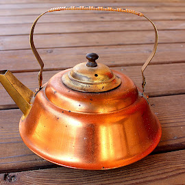 Brass & Age by Gwen Short - Artistic Objects Antiques ( teapot, afteroz, wood, copper, brass )
