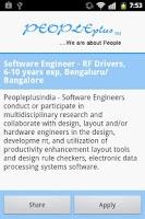 Screenshot of Peopleplus -Latest Active Jobs