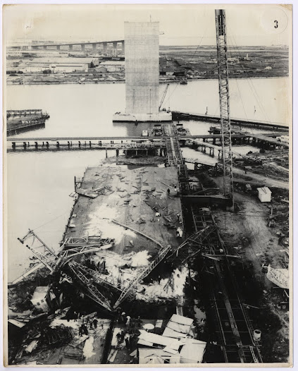 Wreckage viewed from above