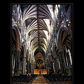 lincoln cathedral  by Kathleen Devai - Buildings & Architecture Places of Worship ( floor chairs people ceiling )