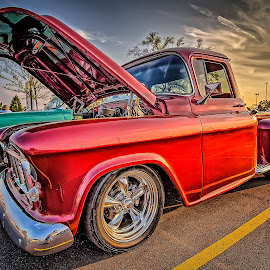 Red Truck by Ron Meyers - Transportation Automobiles