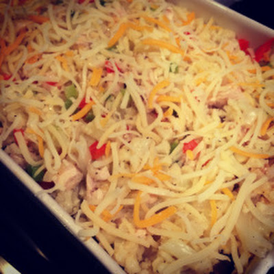 Cheesy Chicken Cauliflower Casserole