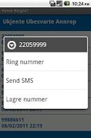 Screenshot of Hvem Ringte?