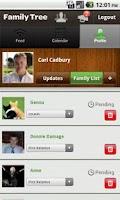 Screenshot of Family Tree