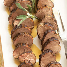 Sage-rubbed Pork Tenderloins with Sage Butter